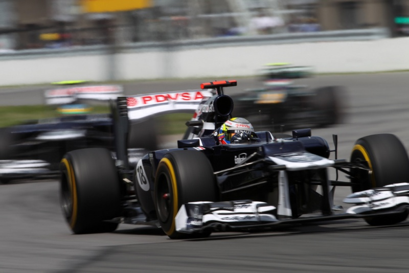 Senna ficou atrás de Maldonado no Canadá