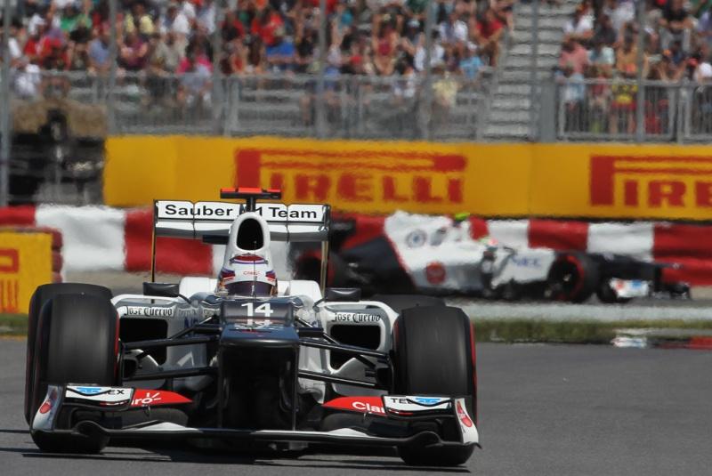 Sauber foi ao pódio em Montreal com Perez