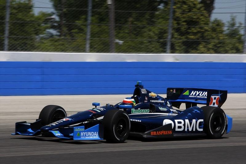 Barrichello faz seu melhor classificatório na Indy
