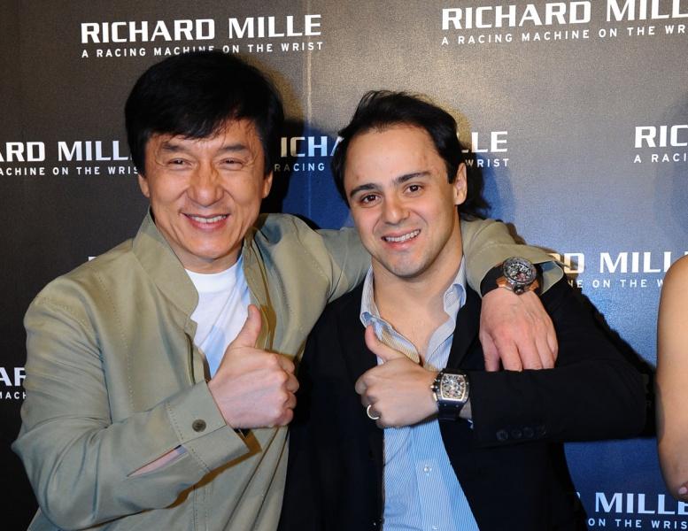 Jackie Chan e Felipe Massa