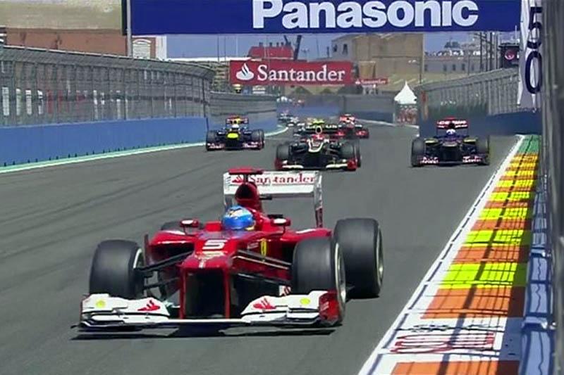 Momento em que Alonso assume liderança