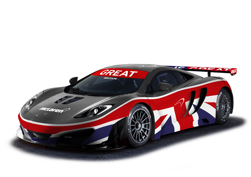 McLaren 12C terá versão para GT3 com pintura inspirada na bandeira britânica