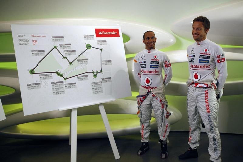 Hamilton e Button participaram do projeto