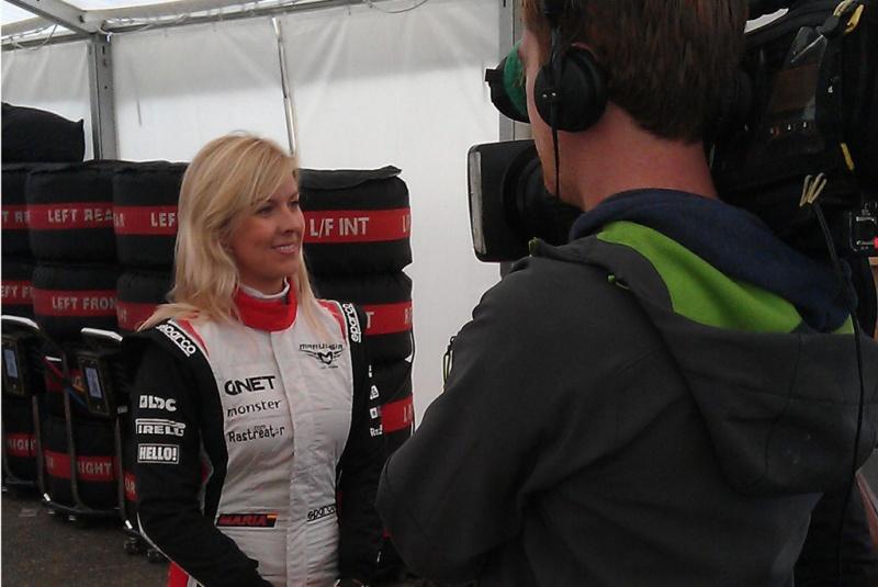 Entrevista minutos antes do acidente