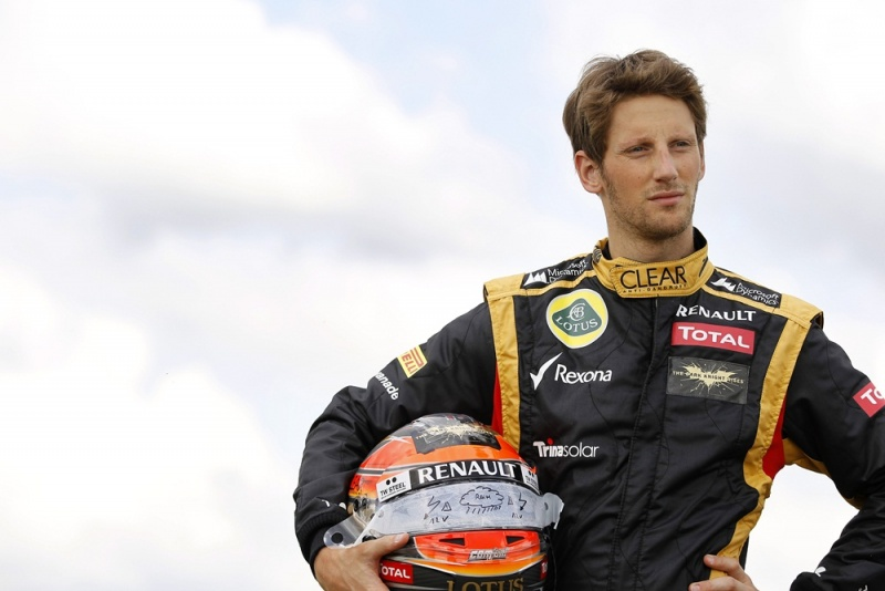 Romain Grosjean hoje em Silverstone