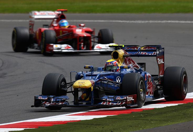 Red Bull e Ferrari andaram próximas em Silverstone