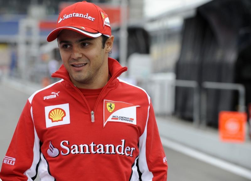 Massa brinca com momento delicado na Ferrari