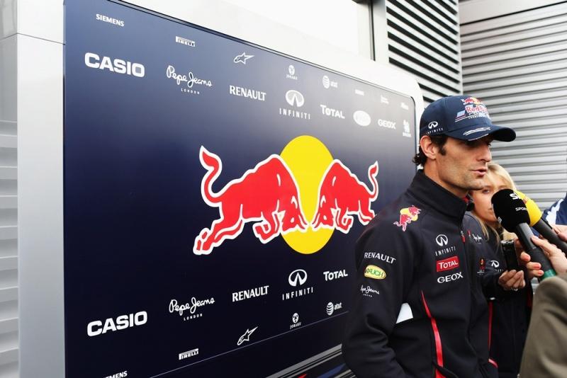Webber dá entrevistas em Hockenheim