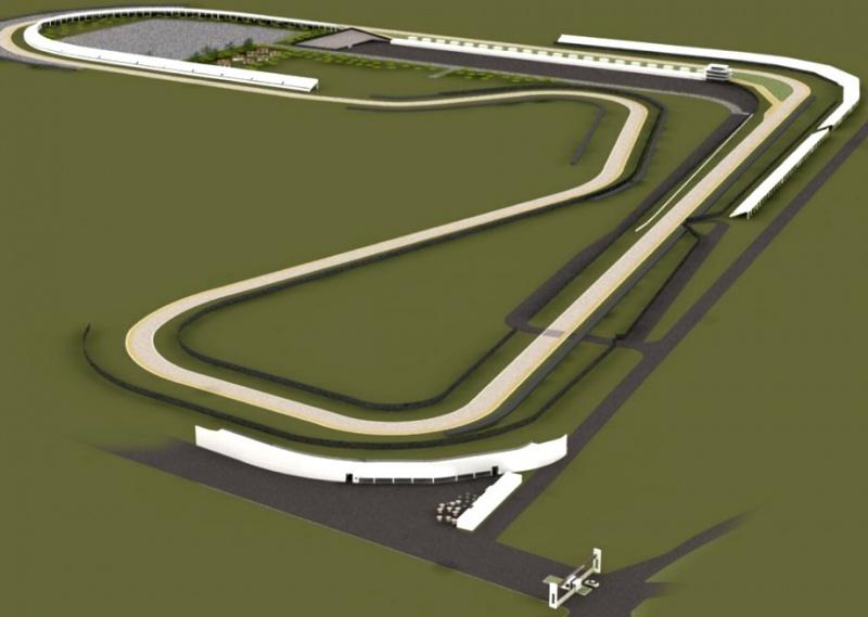 Reprodução digital da pista de Cascavel