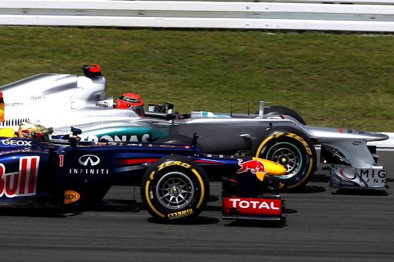 Schumacher e Vettel disputam em Hockenheim