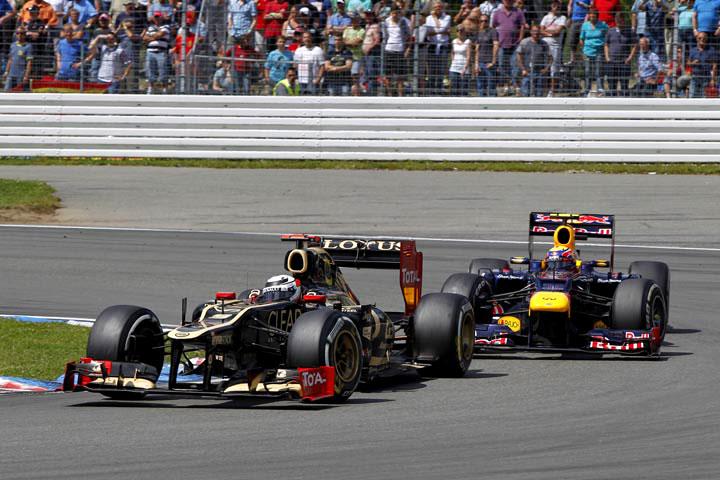 Raikkonen e Webber em Hockenheim