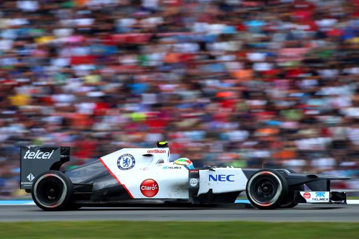 Sergio Perez em ação
