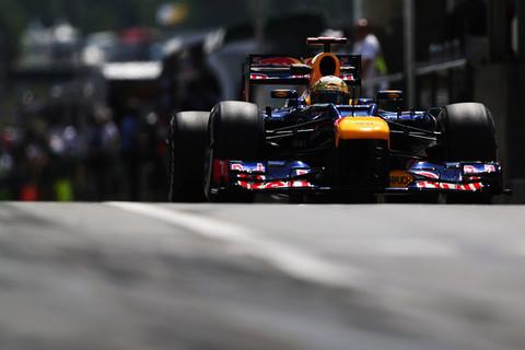 Sebastian Vettel em ação