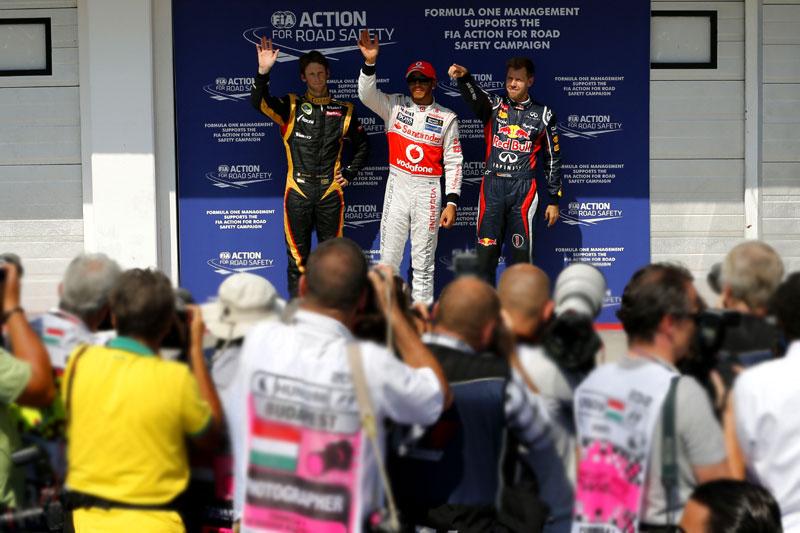 Hamilton teme Lotus e Red Bull para a corrida