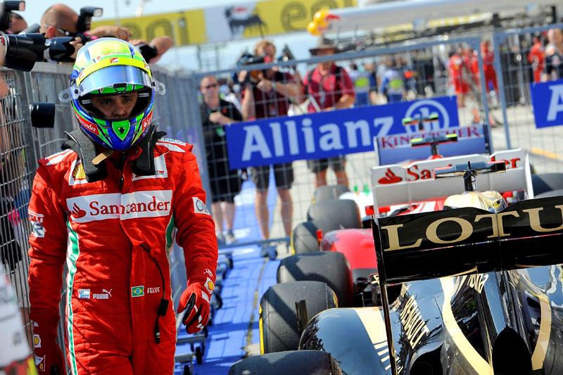 Felipe Massa após classificação em Hungaroring