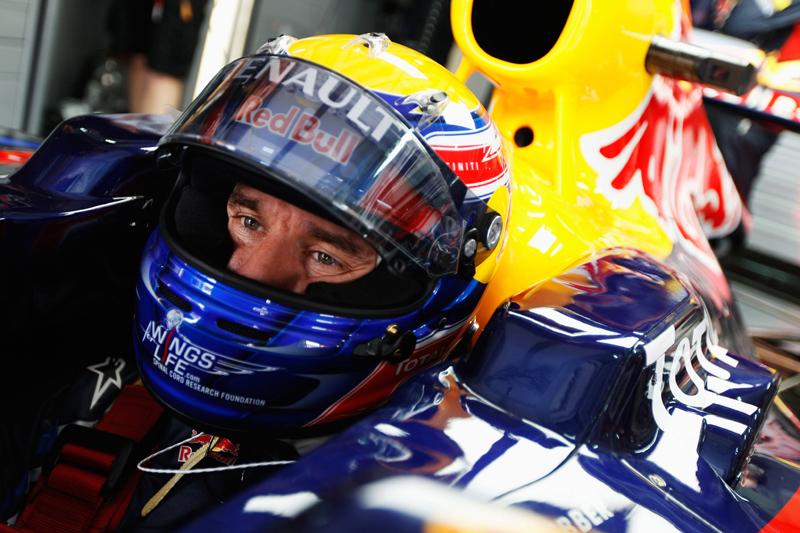 Mark Webber andou com o modelo vencedor do Mundial do ano passado (Mark Thompson/Red Bull/GEPA)
