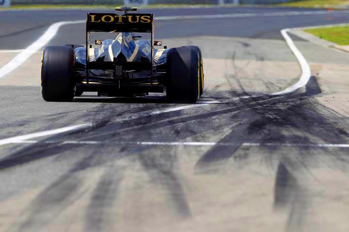 Marcas de pneus em Hungaroring