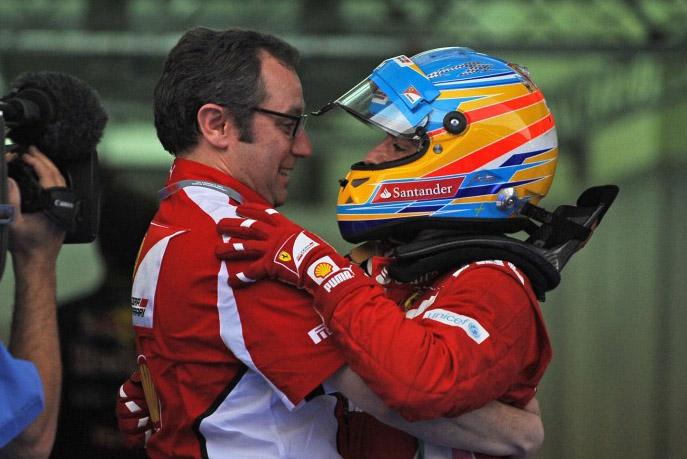 Alonso está na terceira temporada na Ferrari