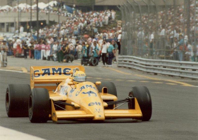 Senna caminha para sua última vitória na Lotus, em 1987