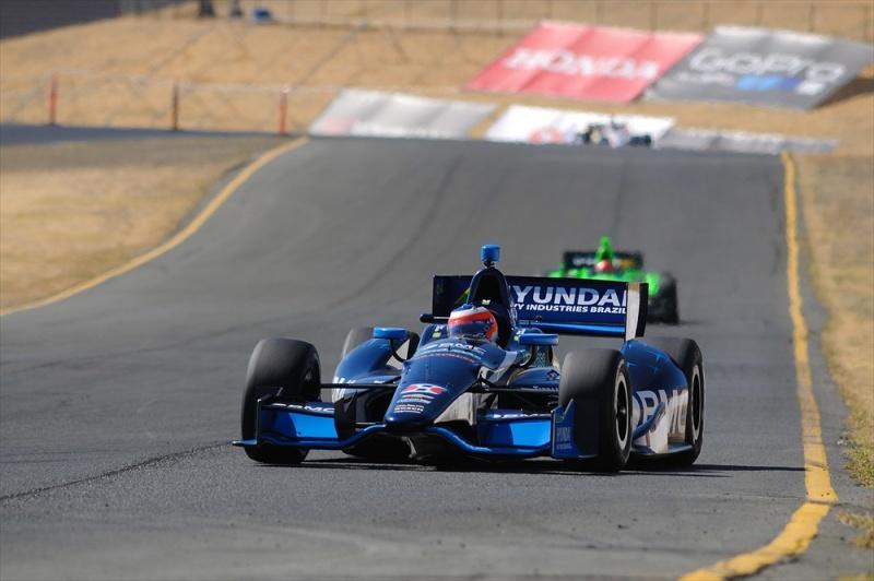 Rubens fez sua melhor atuação na Indy