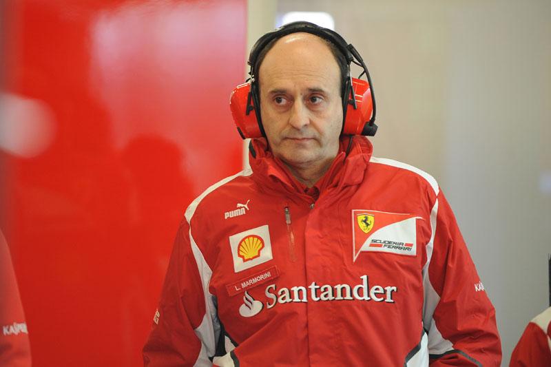 O chefe de motores e eletrônica da Ferrari, Luca Marmorini