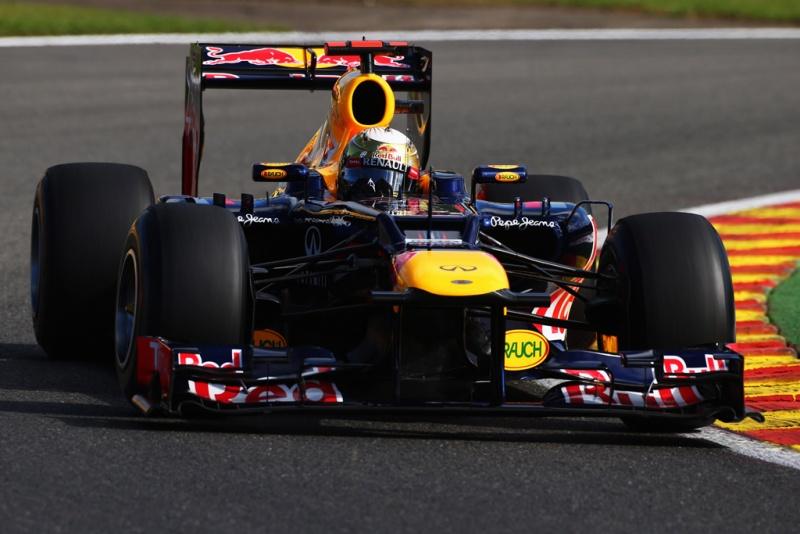 Sebastian Vettel durante o treino em Spa