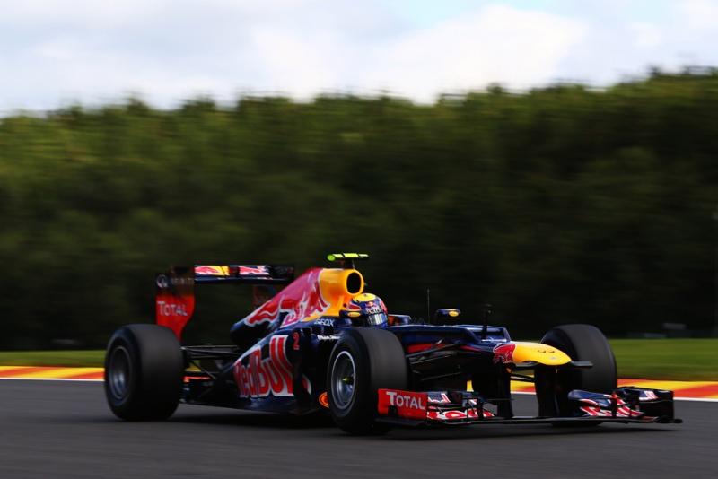 Webber em ação na Bélgica neste sábado
