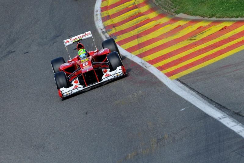 Felipe Massa no circuito de Spa-Francorchamps