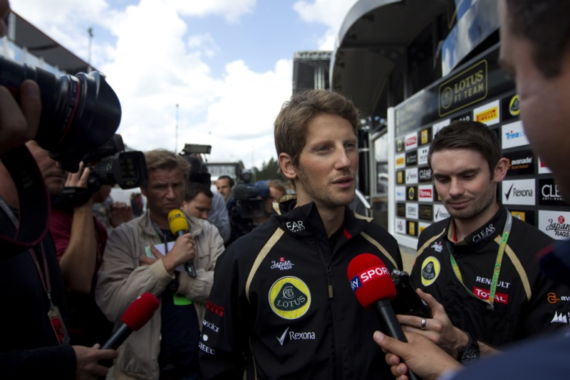 Grosjean durante final de semana na Bélgica