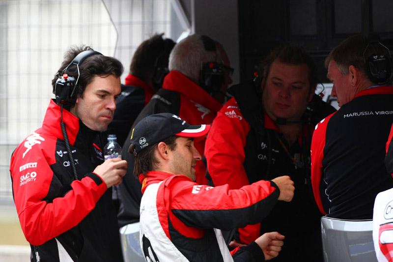 Glock explica reações do carro para staff técnico da Marussia Virgin