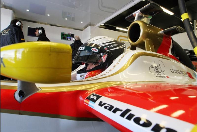 Ma Qing Hua durante teste em Silverstone