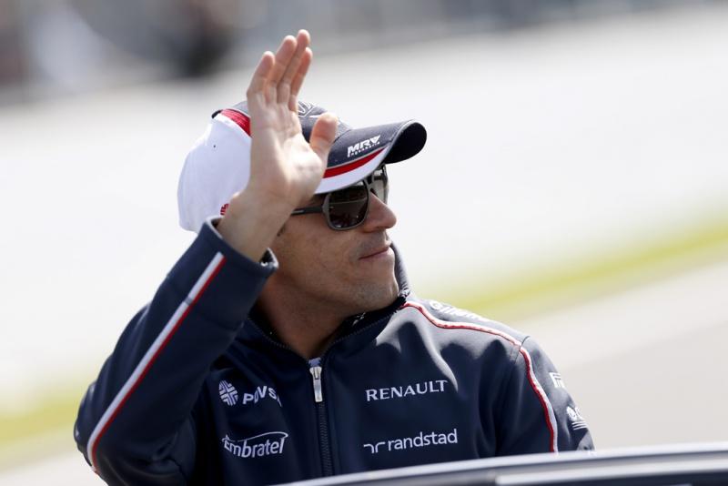 Maldonado durante o GP da Bélgica