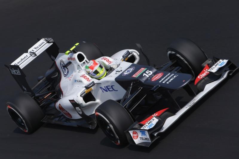 Pérez durante o final de semana em Monza