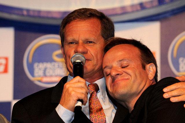 Hoffmann e Barrichello: ídolos e fãs