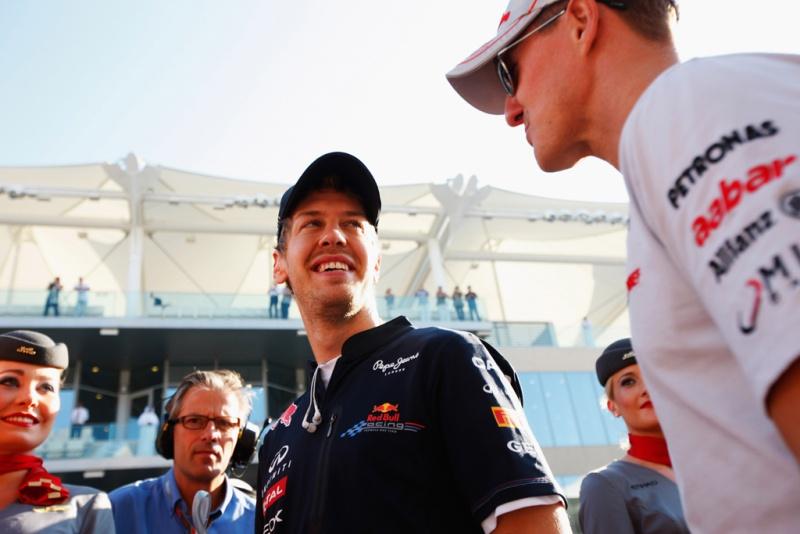 Vettel e Schumacher: amigos