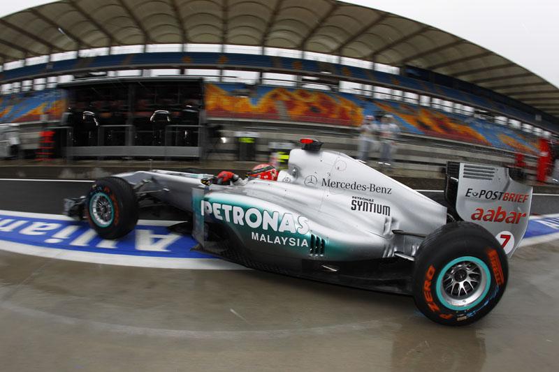 Schumacher obteve a melhor posição de largada no ano