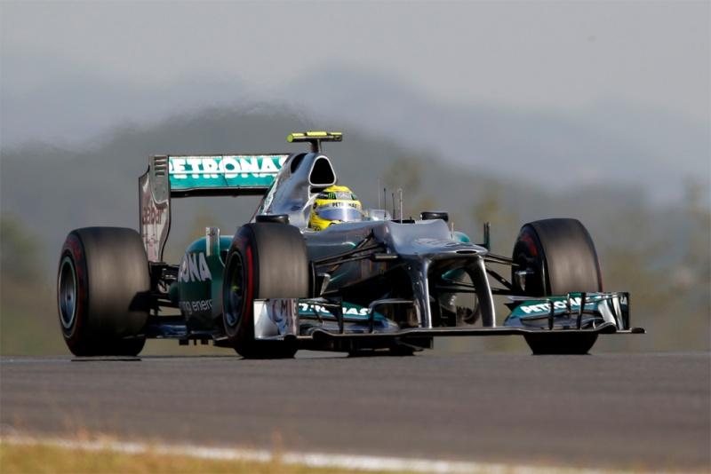 Rosberg durante a classificação