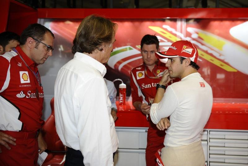 Montezemolo e Massa conversam nos boxes