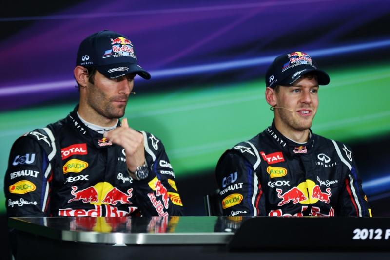 Webber e Vettel na Coreia