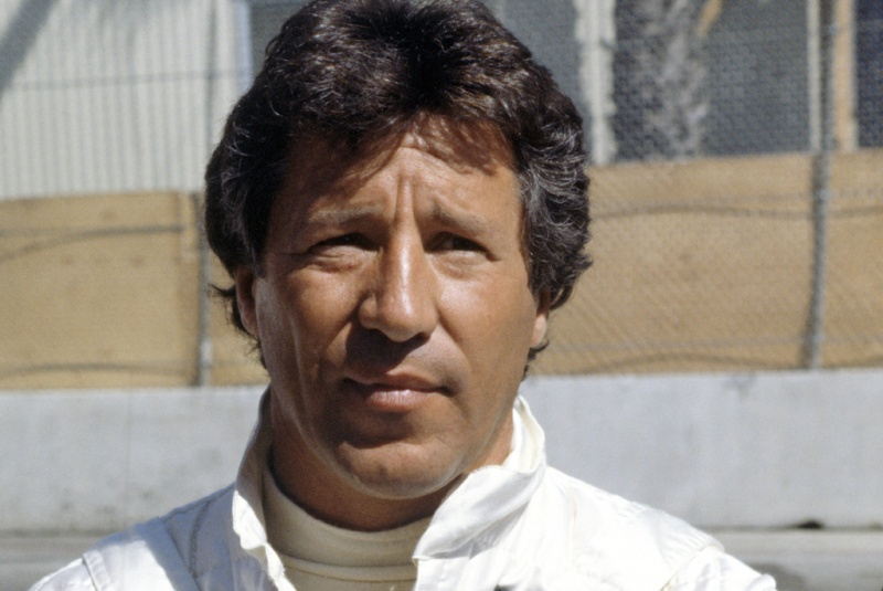 Mario Andretti em seu último GP, em 1982