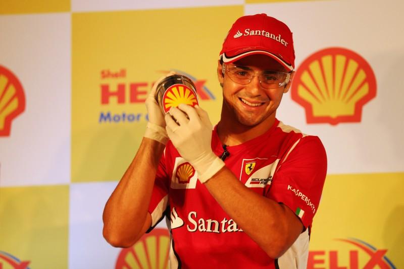 Massa participou de evento da Shell hoje na Índia