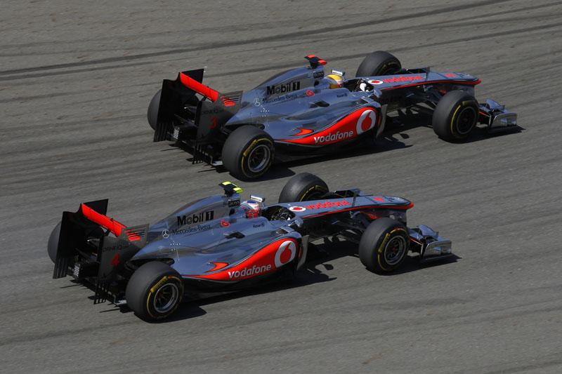 Button e Hamilton disputaram posição pra valer na Turquia