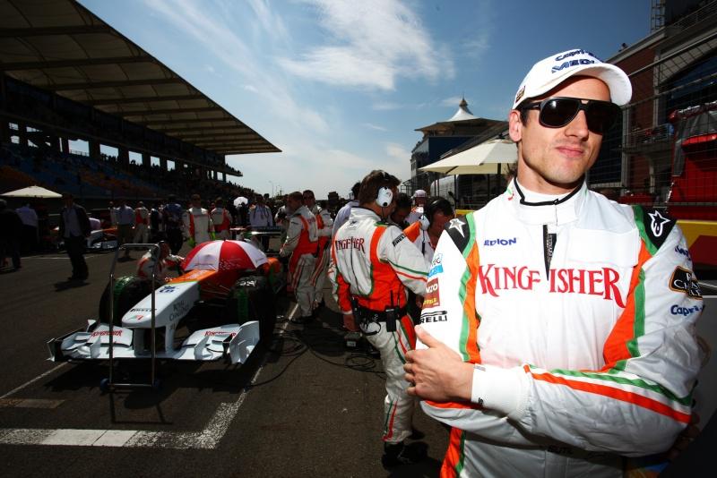 Adrian Sutil, no grid de largada do GP da Turquia