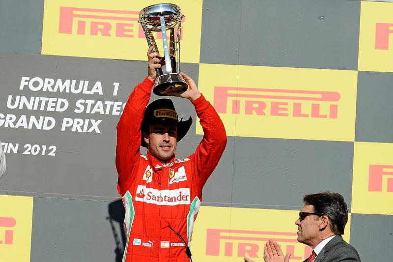 Alonso chegou em terceiro em Austin