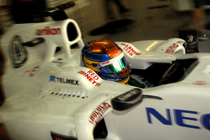 Gutierrez testando pela Sauber