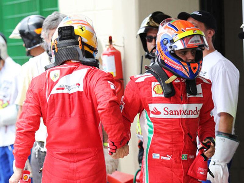 Massa cumprimenta Alonso