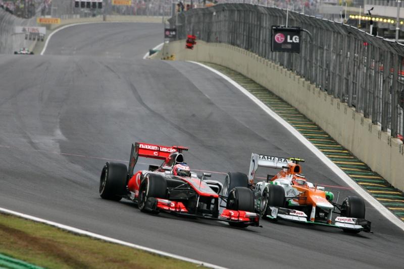 Hulkenberg ataca Button no GP do Brasil