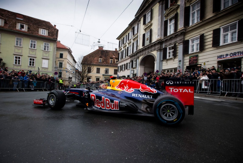 Vettel esteve em Graz, Áustria, neste fim de semana
