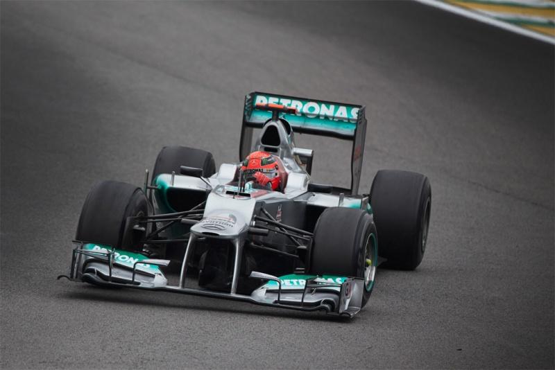 Schumacher durante GP do Brasil