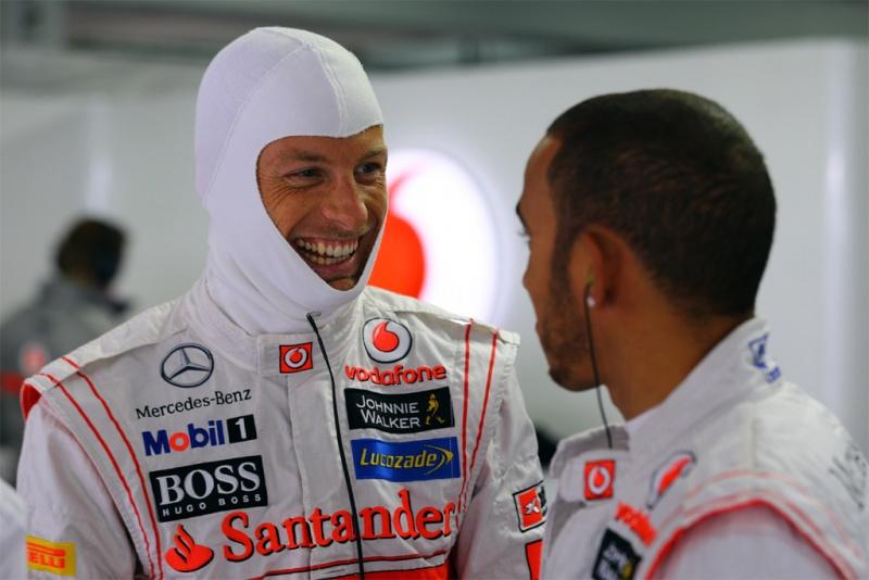 Button e Hamilton foram companheiros por 3 anos